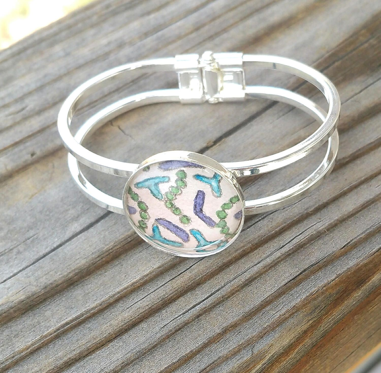 Bacteria Bracelet. Beneficial Bacteria Bask in a Bracelet, hand-painted in watercolor for your favorite scientist!