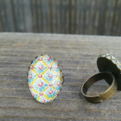 Easter egg ring. Faberge Egg Inspired Easter egg ring. Hand drawn easter ring, unique easter gift
