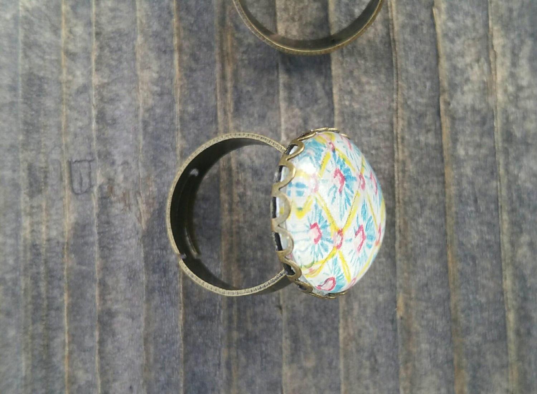 Easter egg ring. Faberge Egg Inspired Easter egg ring. Hand drawn easter ring, unique easter gift